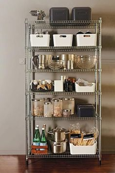 Best small kitchen ideas for your home. - Considering a IKEA Omar shelf for our kitchen, so tired of the mess. Kitchen Ikea, Kitchen Pantry, Kitchen Decor, Ikea Kitchen Storage, Storage For Small Kitchen, Kitchen Racks, Kitchen Appliance Storage, Ikea Omar, Open Pantry