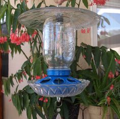 Repurposed mason jar bird feeder by ARTful Salvage $45.00