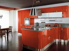 Gloss Lacquered Kitchen Cupboards