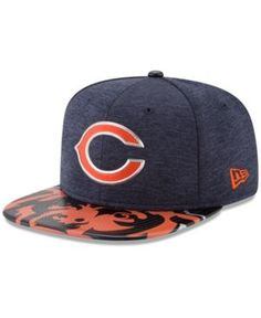 New Era Chicago Bears 2017 Draft 9FIFTY Snapback Cap - Navy/Orange Adjustable