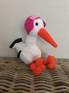 Geboorte ooievaar - made by Boukje! 12-10-2013