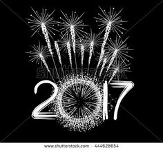 Fireworks for new year 2017
