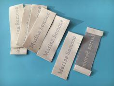 Custom Clothing Label coudre sur vêtement en tissu fait main créé par nom Marque Balises