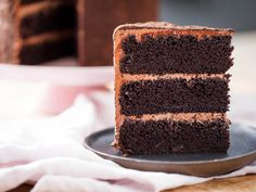 Devil's Food Cake | There isn't anything quite like a layer cake to celebrate an occasion, and there's nothing like a towering devil's food cake to pull out all the stops for a Valentine's Day dessert. And the best part is that this cake is a cinch to make: You don't even need a stand mixer for the cake itself.
