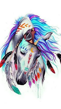 A hand with a tattoo of a red fox, tattoos for couples, a man with a tattoo - gemalte Bilder - Painted Horses, Horse Drawings, Animal Drawings, Pencil Drawings, Native American Horses, Native American Paintings, Indian Horses, Art Watercolor, Horse Artwork
