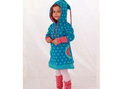 Süßes Kinder Hoodie Kleidchen wächst mit von Almzuckerl auf DaWanda.com