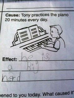 Tony Practices Piano Because He's a Big Nerd
