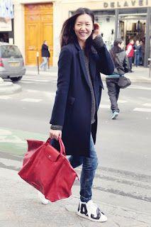 Top Models Carry Longchamp LE PLIAGE® CUIR