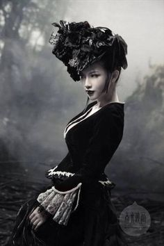 Victorian gothic influence. love the look