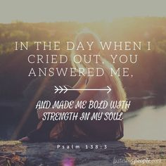 Thank you Father for answering when I call! #GodIsMyStrength