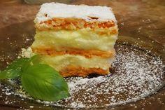 Naplemente-szelet: könnyű nyári sütemény vaníliás krémmel