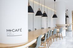Xiao Tan-谭啸 on Behance Brown Cafe, White Cafe, M Cafe, Cafe Shop, Student Lounge, Cafe Counter, Gallery Cafe, Counter Design, Restaurant Interior Design