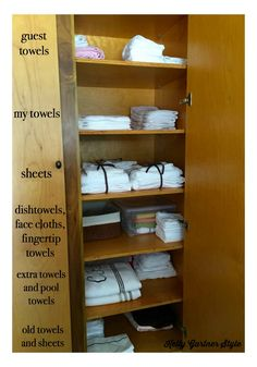 Have you ever wanted to reorganize your linen closet and make it as pretty as you see on organizing blogs and in magazines? Frustrated with your inability to fold a fitted sheet? I did and I was, and then I saw this life-changing video. Read this post to find out how you, too, can have a beautifully organized linen closet!