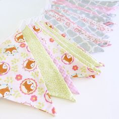Busy sewing bunting today for my pop up at @potterybarnkids_lynnfield on the 18th March. Lots of grays perfect for a nursery but also a sneak peak of a new design featuring foxes