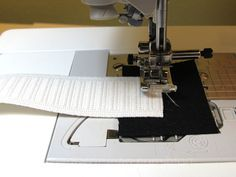 Here's the easiest possible way to sew elastic to a waistline. The bonus is that this technique skips the tell-tale topstitching so your skirts or pants don't look, should I say, ol' fashion!