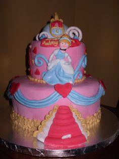 Cake Whimsy: Cinderella Birthday Cake
