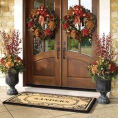 the doors, front door decor, front doors, fall door, hous
