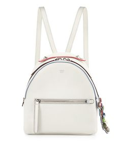 Mini Crystal Croc-Tail Backpack, White/Multi by Fendi at Neiman Marcus.