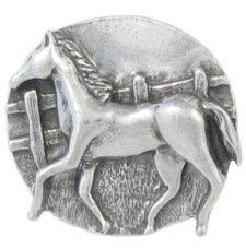 """Journeys and movement into new wonders.""  (Horse amulet)  _____  amuleto de estaño (lead)"