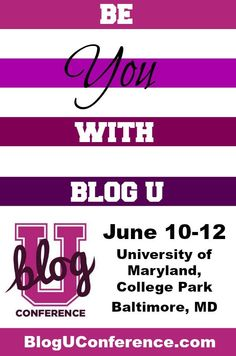 @BlogUConference is a blogging conference that helps bloggers take their blog to the next level. This year's, theme is focusing on how bloggers can give their culture and community a voice loud enough for everyone to hear. Learn how to be you with BlogU!