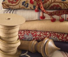 French Chic Fabric Collection. It's a casual collection. Distinctive floral and batik print fabrics mix with textured stripes from Spain that have a heavy hopsack weave. This classic color combination looks right at home in traditional, casual or country French interiors. With the addition of some global fabrics like Suzani, this color scheme would work beyond French Country.