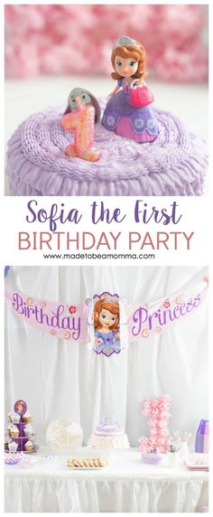 This Sofia The First Birthday party is filled with soft pinks and purples that is perfect for any little princess. The dessert table is filled with goodies! Sofia The First Birthday Party, 3rd Birthday, Kids Party Themes, Kid Parties, Party Ideas, Disney Parties, Diy Ideas, Autumn Activities For Kids, Disney Birthday