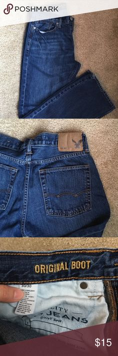 Men's Original Boot Jeans Original wash AE jeans. smoke and pet free home! American Eagle Outfitters Jeans Bootcut