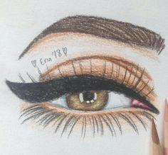 Best one , Eye sketch Human Face Sketch, Human Face Drawing, Girl Face Drawing, Realistic Eye Drawing, Amazing Drawings, Cool Drawings, Drawing Sketches, Face Drawings, Eye Sketch
