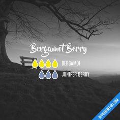 Bergamot Berry Essential Oils Diffuser Blend ••• Buy dōTERRA essential oils online at www.mydoterra.com/suzysholar, or contact me suzy.sholar@gmail.com for more info.