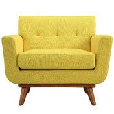 Love this style of arm chair - maybe in their coral?  Wayfair - Engage Arm Chair