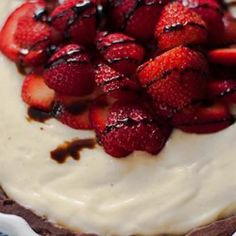 Strawberry Balsamic Custard Tart ... Try this recipe with the NEW YIAH Strawberry, Apricot and Blood Orange Balsamic Vinegar