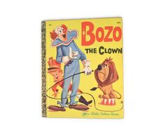 Vintage 1971 Bozo The Clown A Little Golden Book by FarahsAttic, $4.00