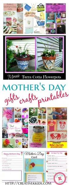 Find some DIY Mother's Day Gifts, Crafts, and Printables! Mothers Day Crafts For Kids, Diy Mothers Day Gifts, Craft Projects For Kids, Arts And Crafts Projects, Happy Mothers Day, Mather Day, Mother's Day Diy, Family Day, Mother And Father