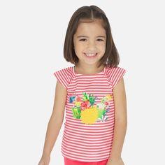 Koszulka W Paski Dla Dziewczynki Mayoral 3028-24 Czerwony Tops, Women, Fashion, Girl Clothing, Bold Stripes, Sleep Dress, Toddler Girls, Moda, Women's
