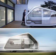 Driverless Self-Parking (Post)Modern Mobile Home Design :))