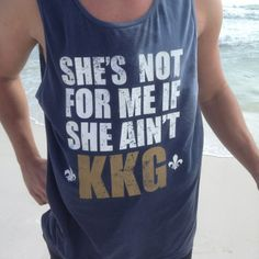 Correction: She's not for me if she's not KayDee. Cute for boys to wear around campus!