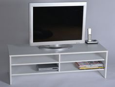 White TV Stand Home Furniture Storage Unit Living Room Finished Wooden Effect