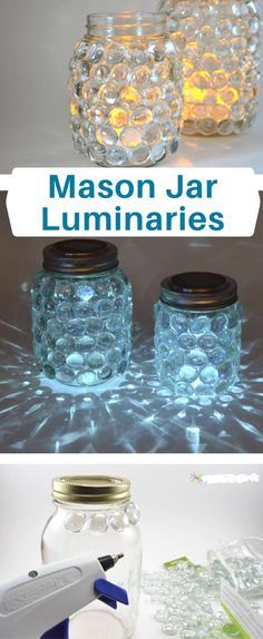 Mason jar luminaries Create a mason jar luminary ~ similar to a . - Kassandraklumpp - Mason jar luminaries Create a mason jar luminary ~ similar to a . Mason jar luminaries Create a mason jar luminary ~ similar to a scatter candle ~ the easy way. Mason Jar Projects, Mason Jar Crafts, Diy Crafts With Mason Jars, Fun Crafts, Diy And Crafts, Arts And Crafts, Craft Ideas For The Home, Diy Crafts For Bedroom, Diy Crafts For Teens