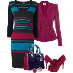 """Fall Stripes"" by christa72 on Polyvore"