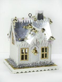 Silver and Gold mini house/ornament. Annette's Creative Journey: Village Dwelling Fun!
