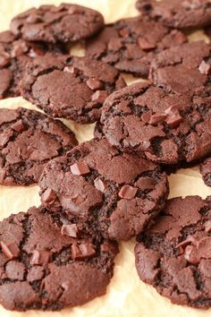 Deliciously satisfying double-chocolate vegan chocolate cookies! Quick and easy, crunchy and soft, perfect for satisfying all your chocolate cravings.