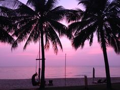 Pho Quoc Vietnam Chen Sea resort sunset from our beach front villa