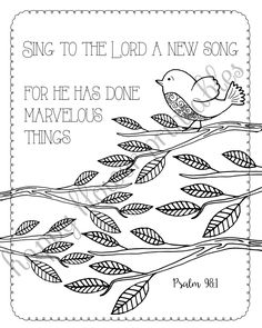 5 Bible Verse Coloring Pages Set by HappyFlowerPrintable on Etsy