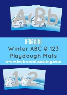 These free alphabet and number winter playdough mats are perfect for toddlers and preschoolers who are learning numbers and letters!
