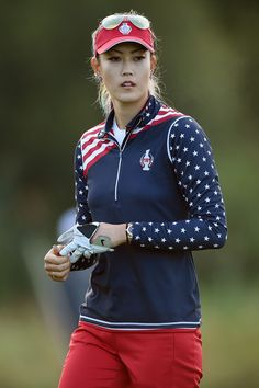 Michelle Wie Photos Photos - Michelle Wie of the United States Team looks on during the morning foursomes on day one of the Solheim Cup 2015 at St Leon-Rot Golf Club on September 18, 2015 in Sankt Leon-Rot, Germany. - The Solheim Cup - Day One