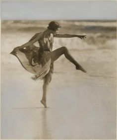 Anna Duncan ( one of the Isadorables ) dancing at Long Beach, Long Island,1920s