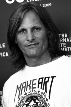 Bookish Celebrity - Viggo Mortensen. Speaks fluent English, Spanish, Danish, and French.Painted the large murals in his artist's studio in the film A Perfect Murder .In 2003 he visited Denmark and had a booksigning, an art exhibition opening and The Lord of The Rings premiere. Owner of publishing company Perceval Press.