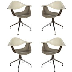 Set of 4 rare George Nelson for Herman Miller DAF Chairs ca1958