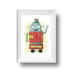 Poster/Print A4 Roboter