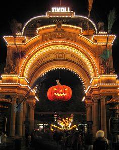 Halloween in Tivoli, Copenhagen, Denmark